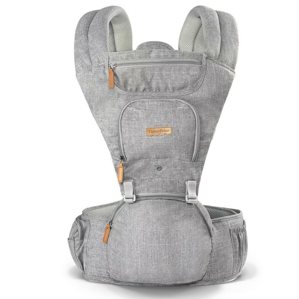 Canguru Fisher Price Cinza para Bebe Recém Nascido até 15kg - BB312