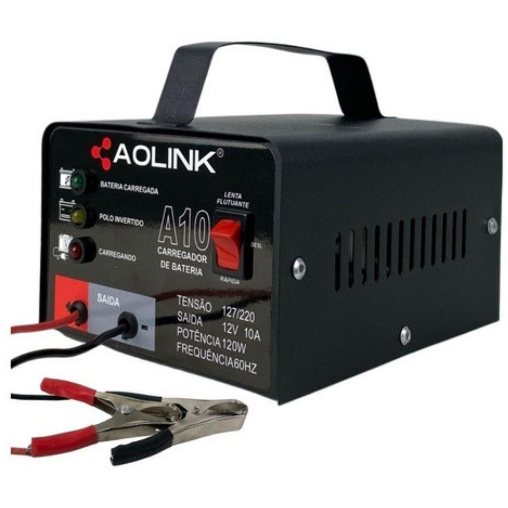 Carregador de Bateria Automotiva Bivolt automático 12v 10A - Aolink