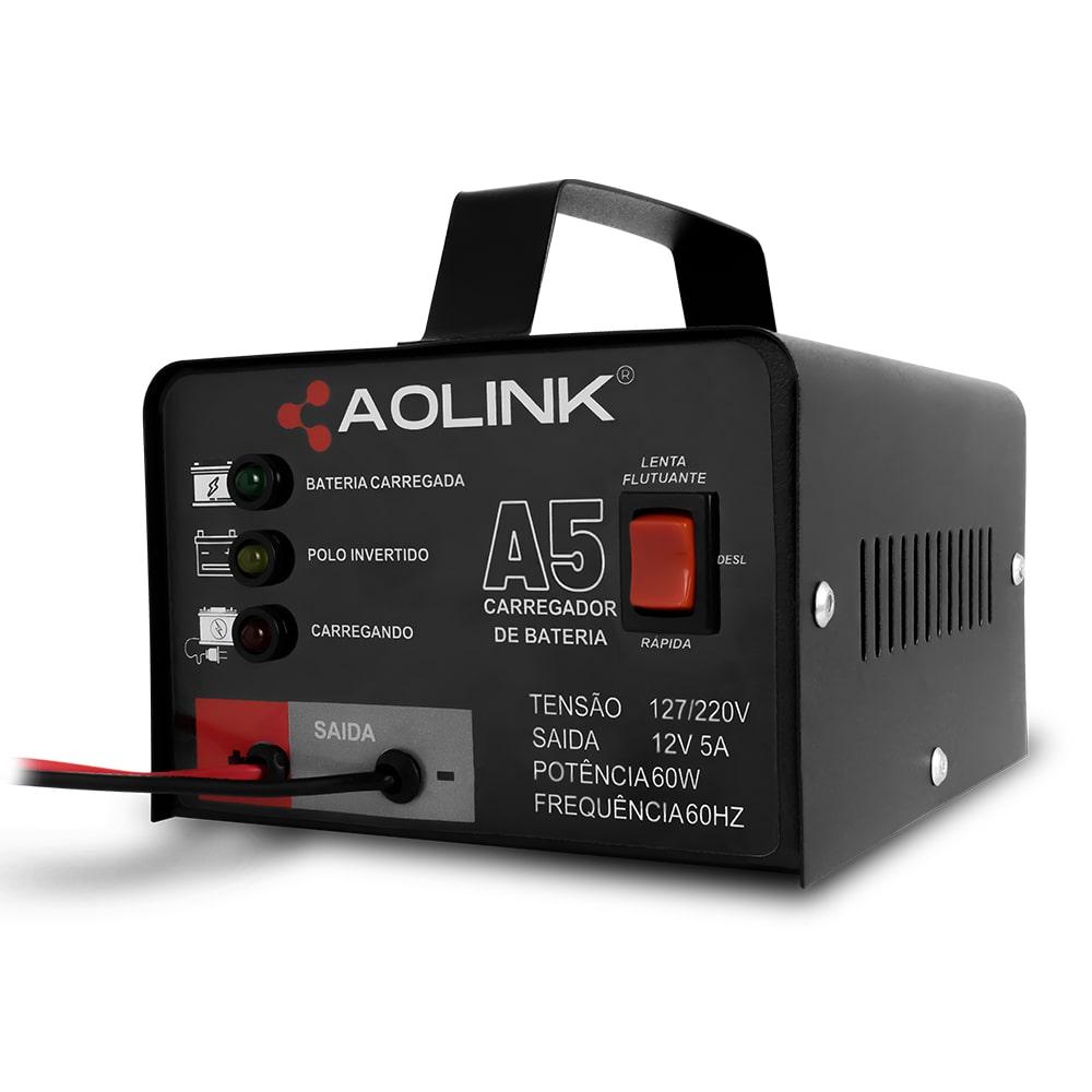 Carregador de Bateria Automotiva Bivolt Automático 12v 5A - Aolink