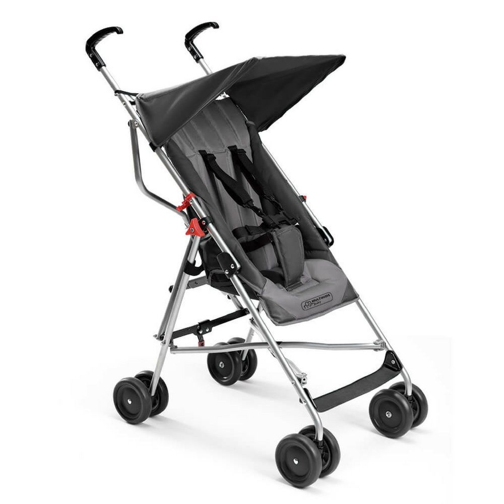 Carrinho de Bebê Guarda Chuva Pocket Cinza BB502 - Multikids Baby