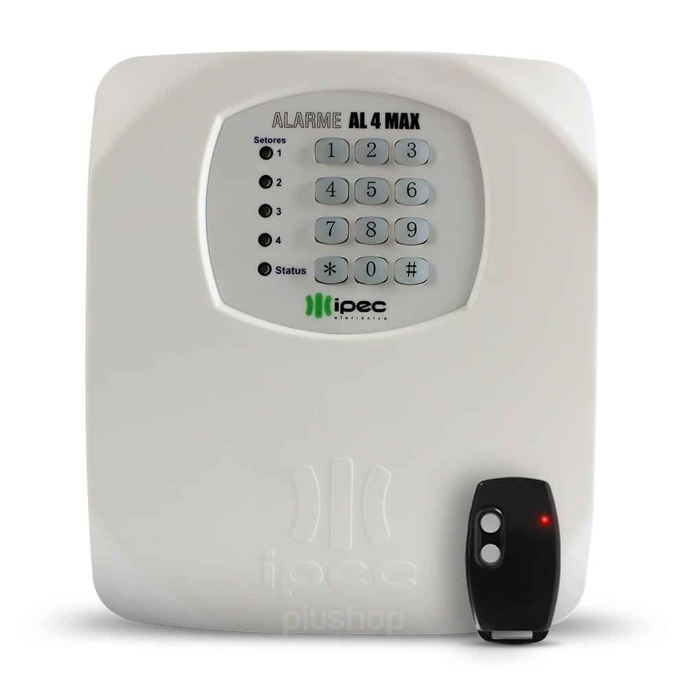Central De Alarme Residencial Com Discadora E Controle Genius AL4 - Ipec