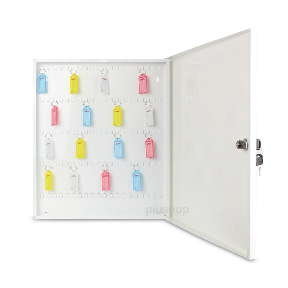 Claviculário Porta Chaves de Parede Branco organizador 100 Chaveiros De Brinde - Ornament