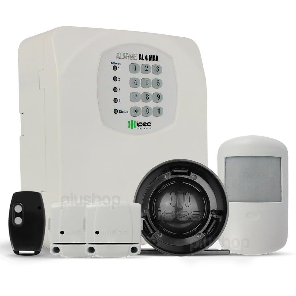 Kit Alarme Residencial Com Discadora 3 Sensores e Sirene - Ipec