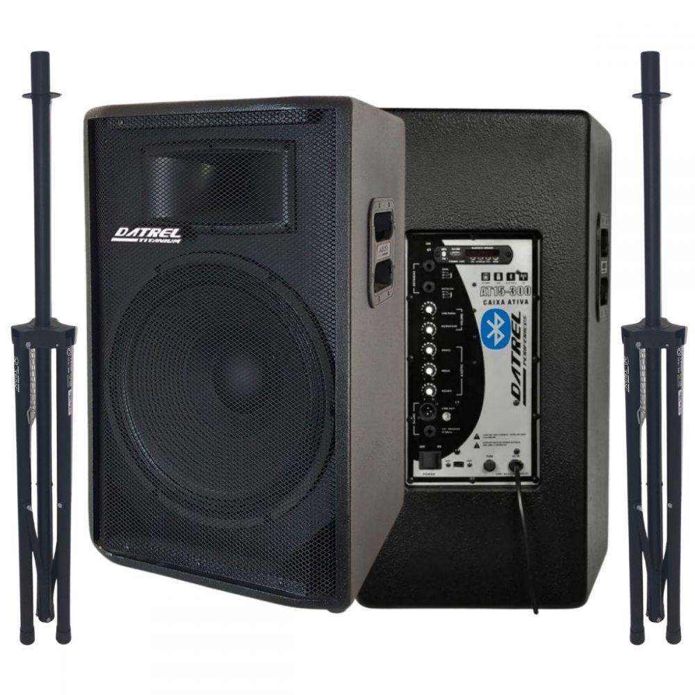 Kit Caixa de Som 600 Watts Ativa Datrel 15