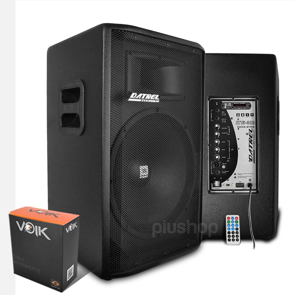 Kit Caixa de Som Ativa e Passiva Falante Jbl 15 600w Usb Bluetooth Fm Sd - Datrel