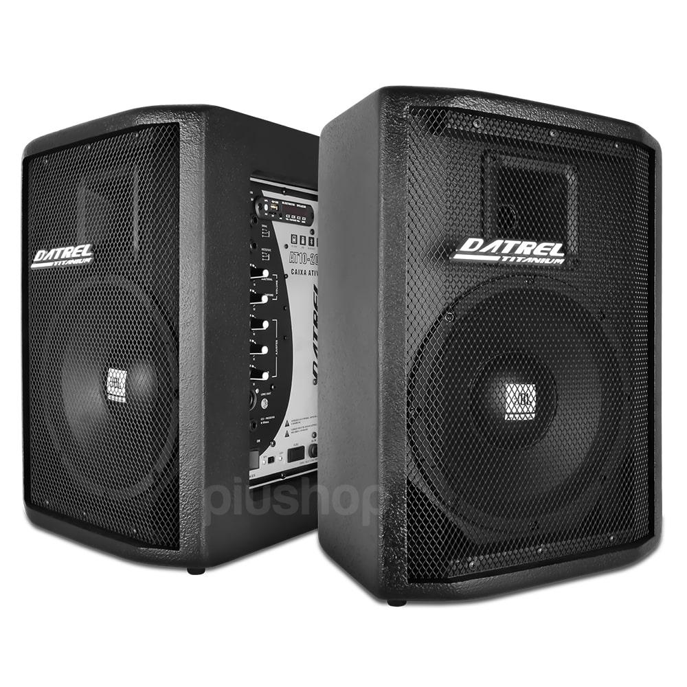 Kit Caixa de Som Ativa Passiva 400w Falante Jbl Usb Bluetooth Sd Fm - Datrel
