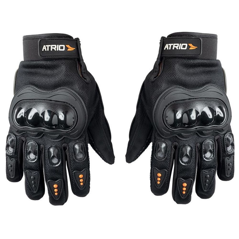 Luva Para Motociclista Motoqueiro Com Protetor Preto Street G Mt041 - Atrio