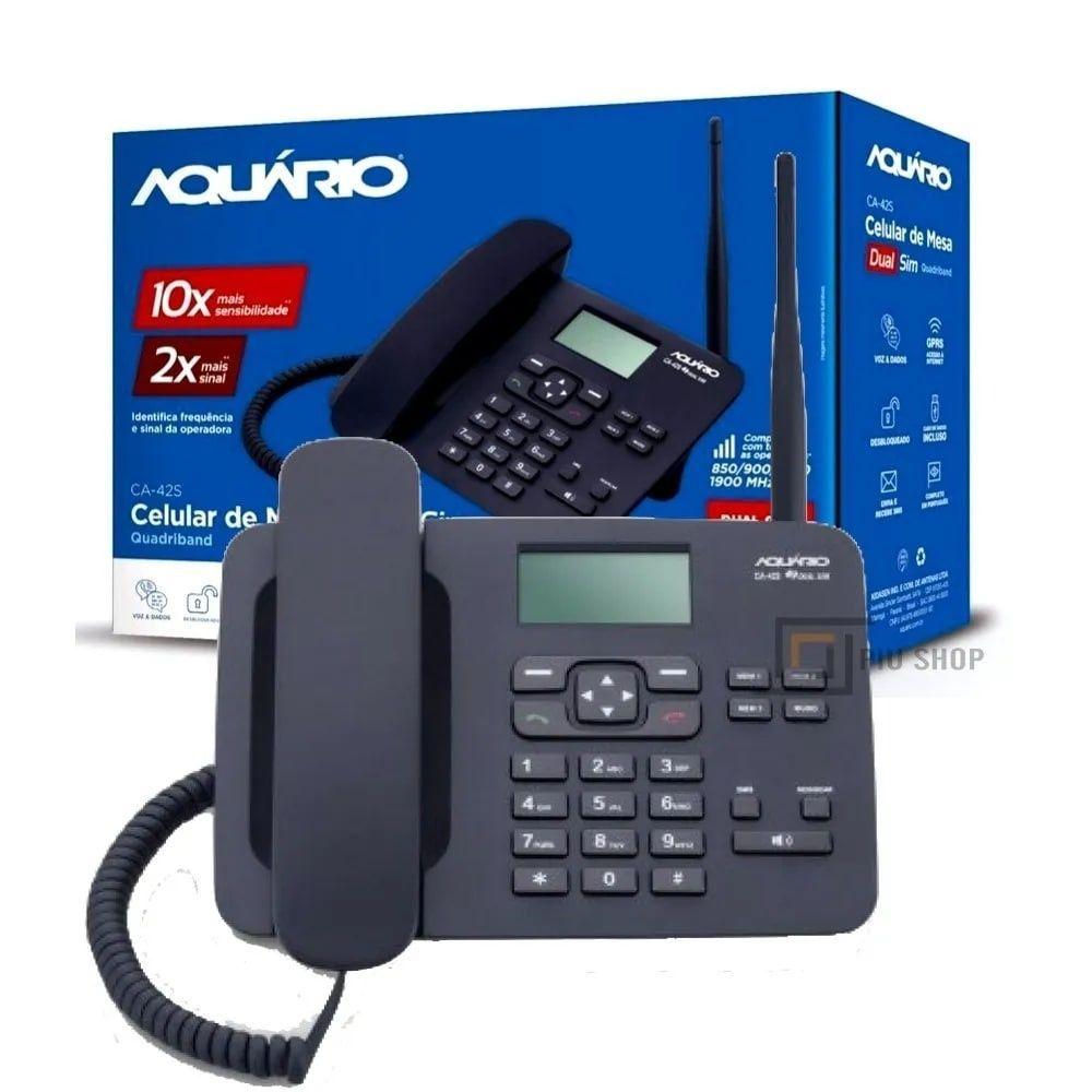 Telefone Celular Rural de Mesa Quadriband Duas SIM CA-42S - Aquário