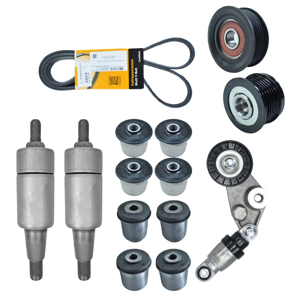 KIT BUCHAS BANDEJAS COMPLETO + KIT TENSOR E POLIAS SSANGYONG ACTYON SUV APÓS 2008