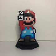 Action Figure Pixel Super Mario