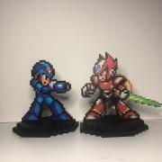 Kit Action Figure Pixel Mega Man