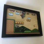 Quadro 3d - Super Mario World Fase