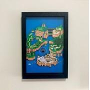Quadro 3d - Super Mario World Mapa