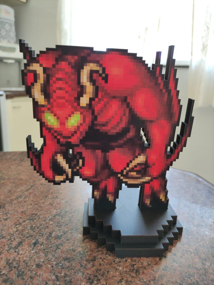 Action Figure Pixel Tibia - Demon