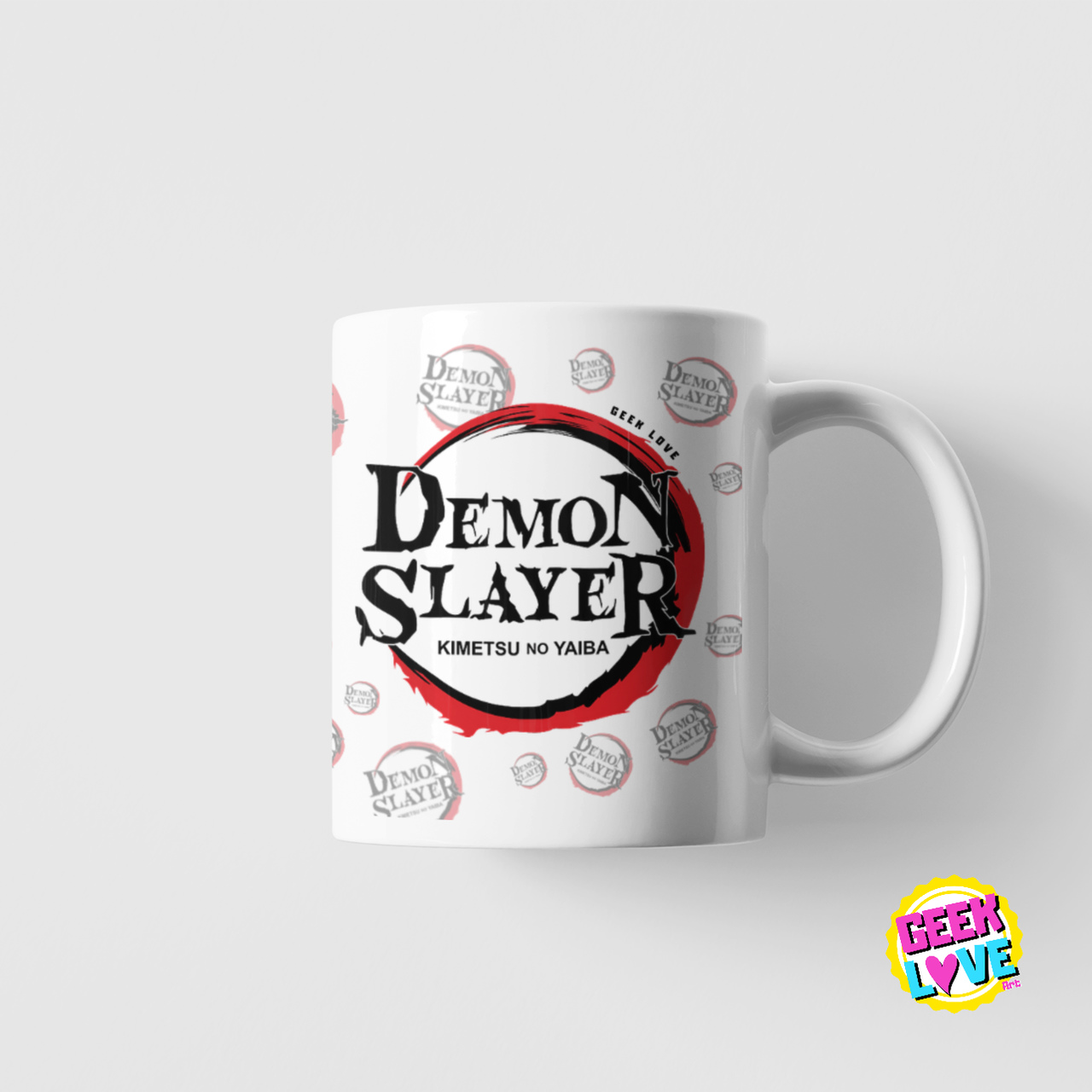 Caneca Geek Love Demon Slayer (Modelo 2)