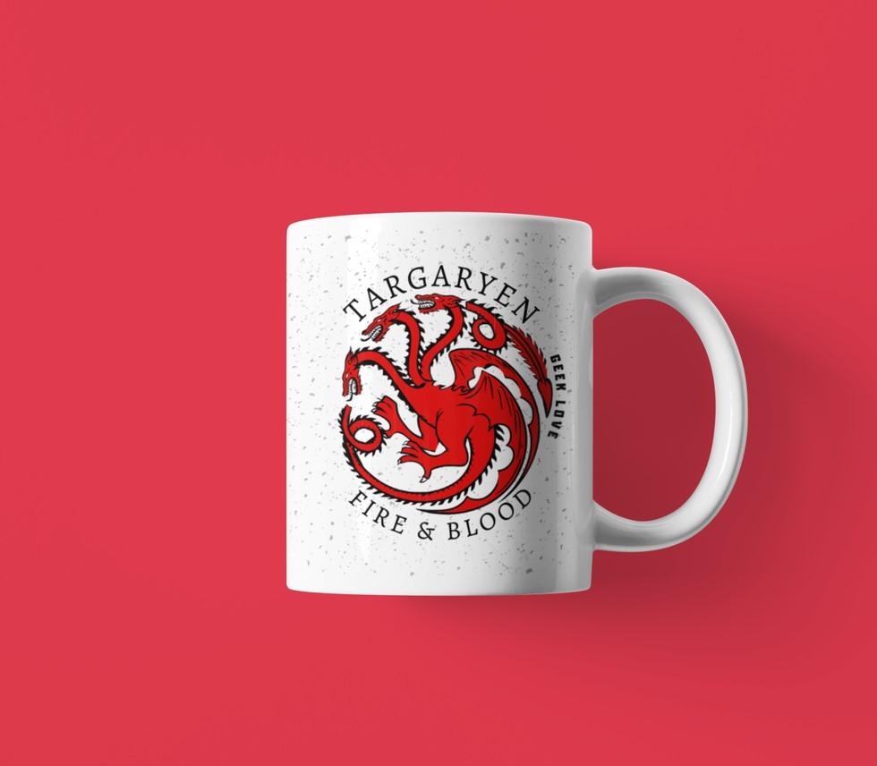 Caneca Geek Love - Game of Thrones - Targaryen Fire & Blood