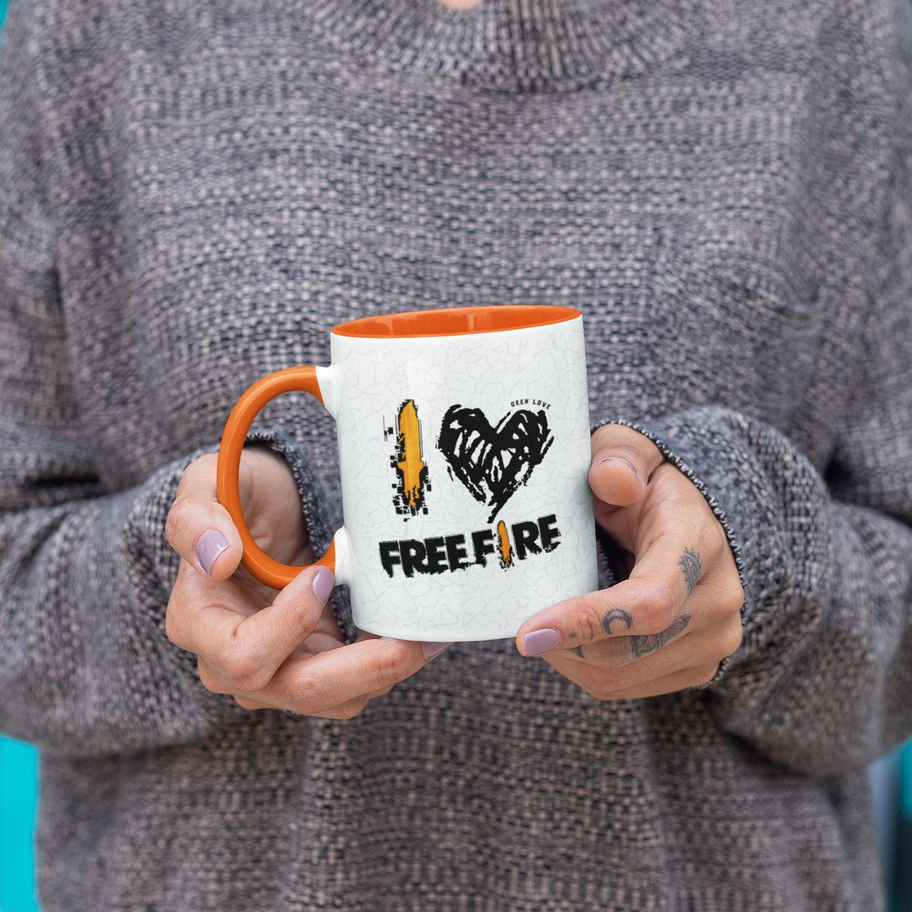 Caneca Geek Love - I LOVE FREE FIRE