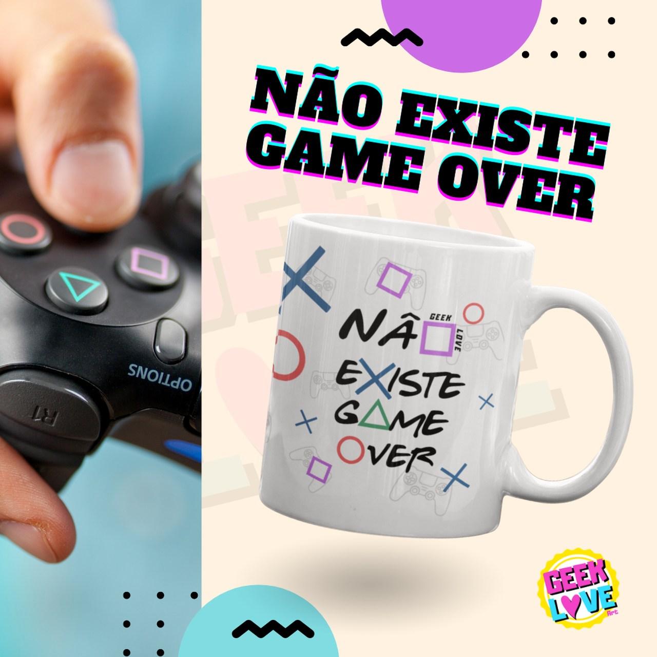 Caneca Geek Love - Não Existe Game Over