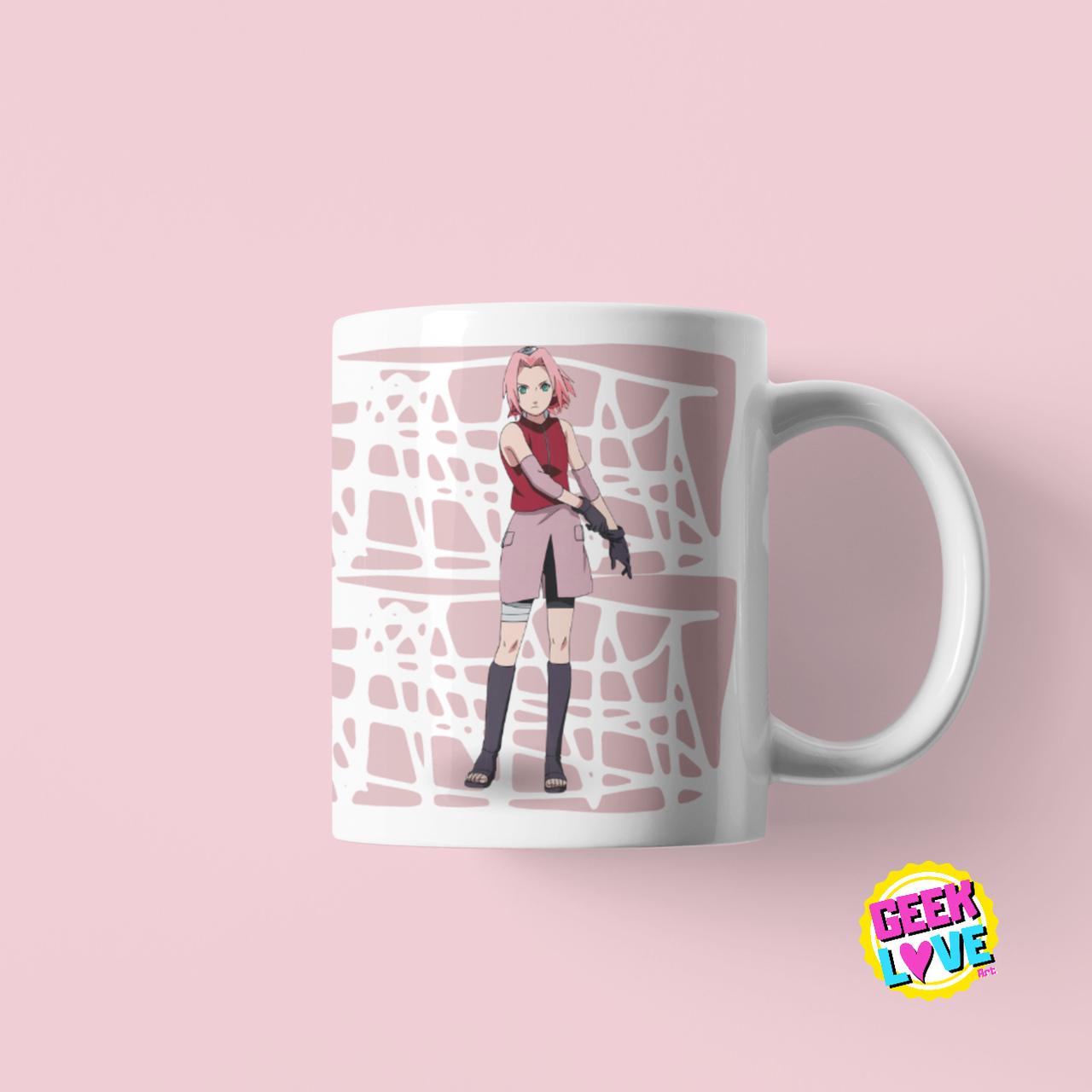 Caneca Geek Love Naruto - Sakura
