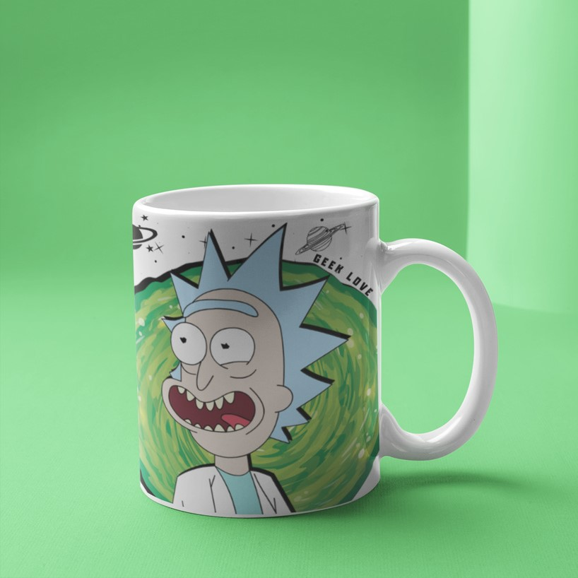 Caneca Geek Love Rick And Morty - Rick Portal
