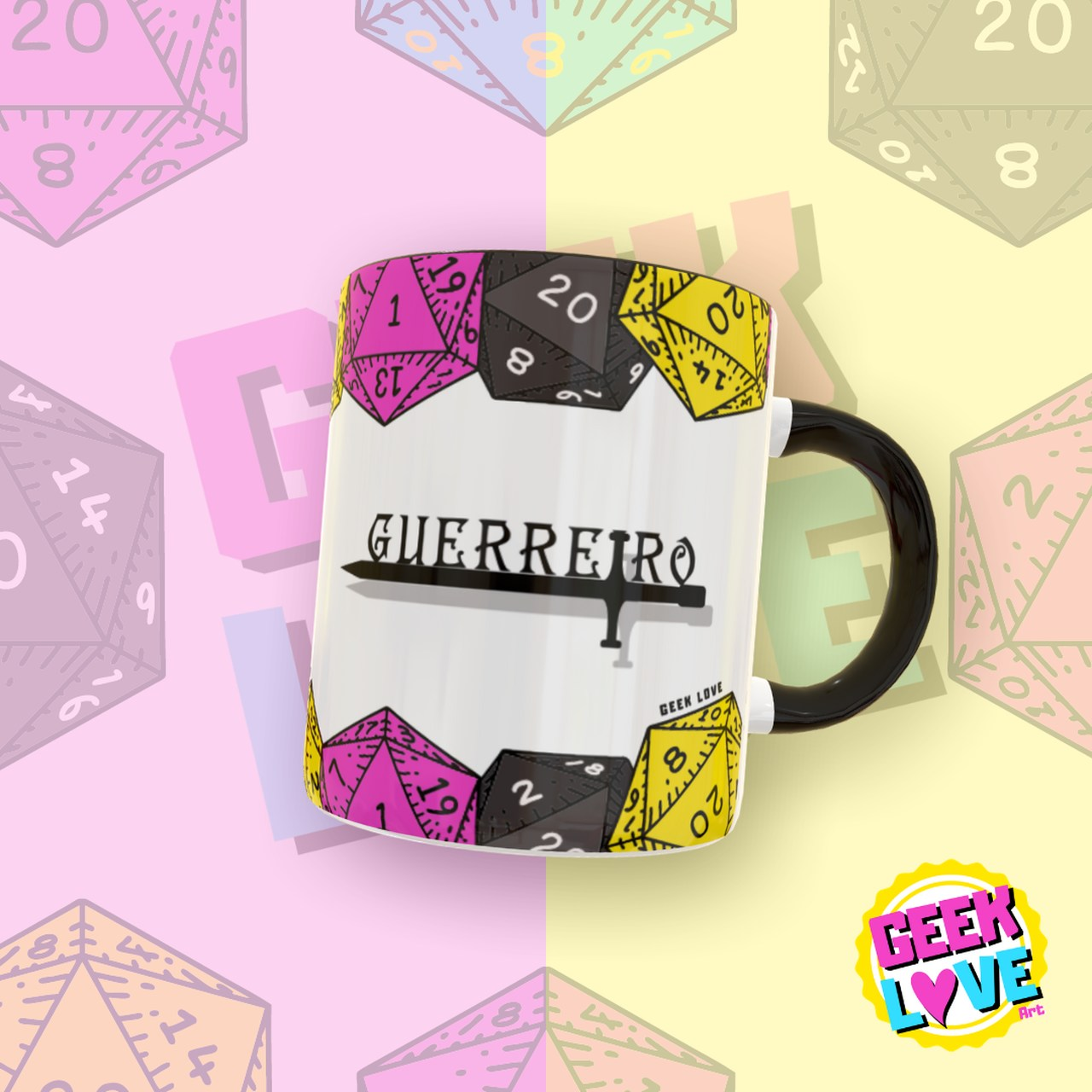 Caneca Geek Love RPG - Guerreiro