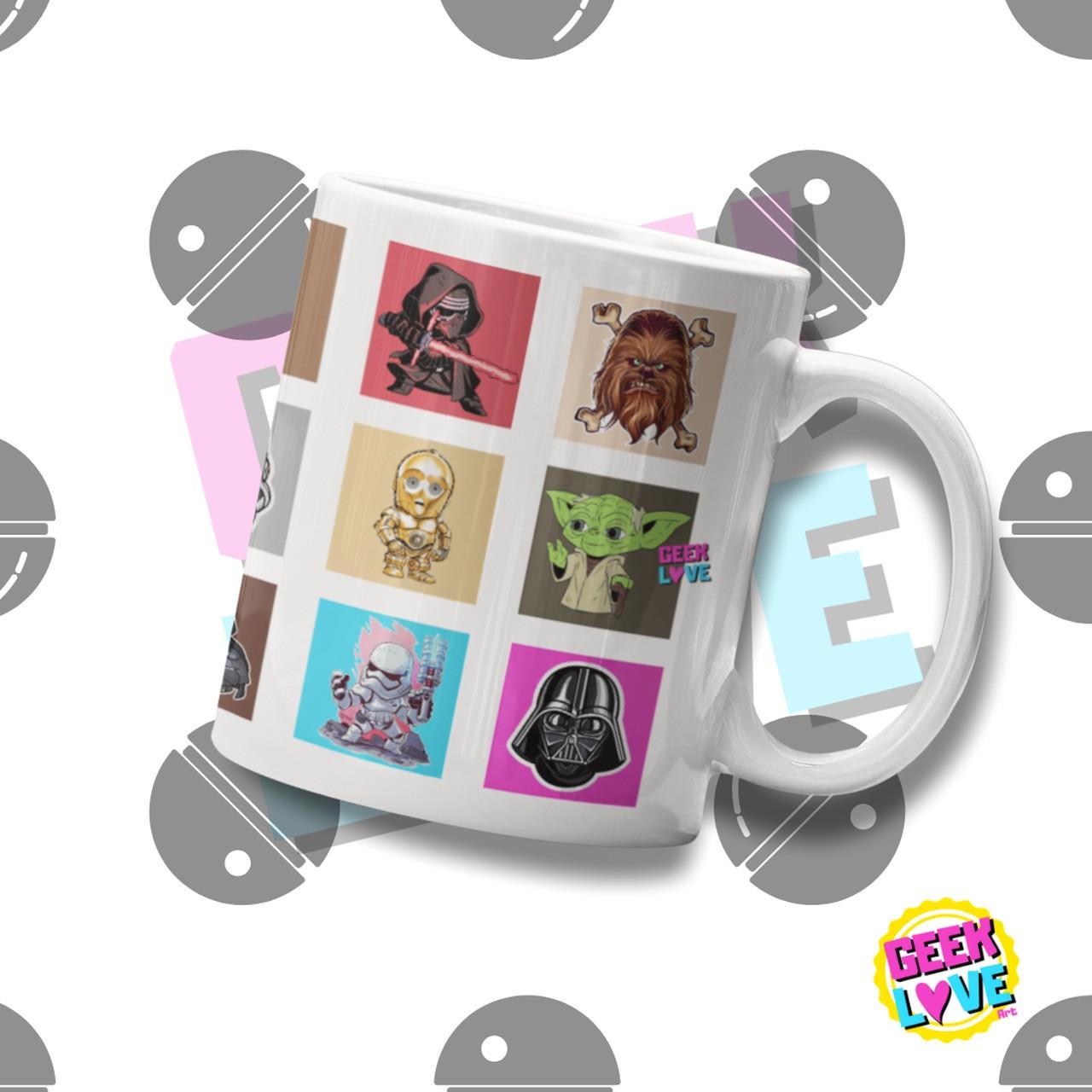 Caneca Geek Love Star Wars