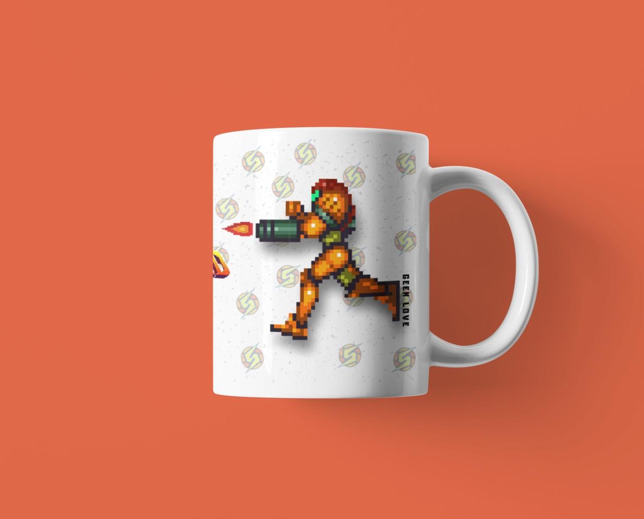 Caneca Geek Love - Super Metroid Pixel