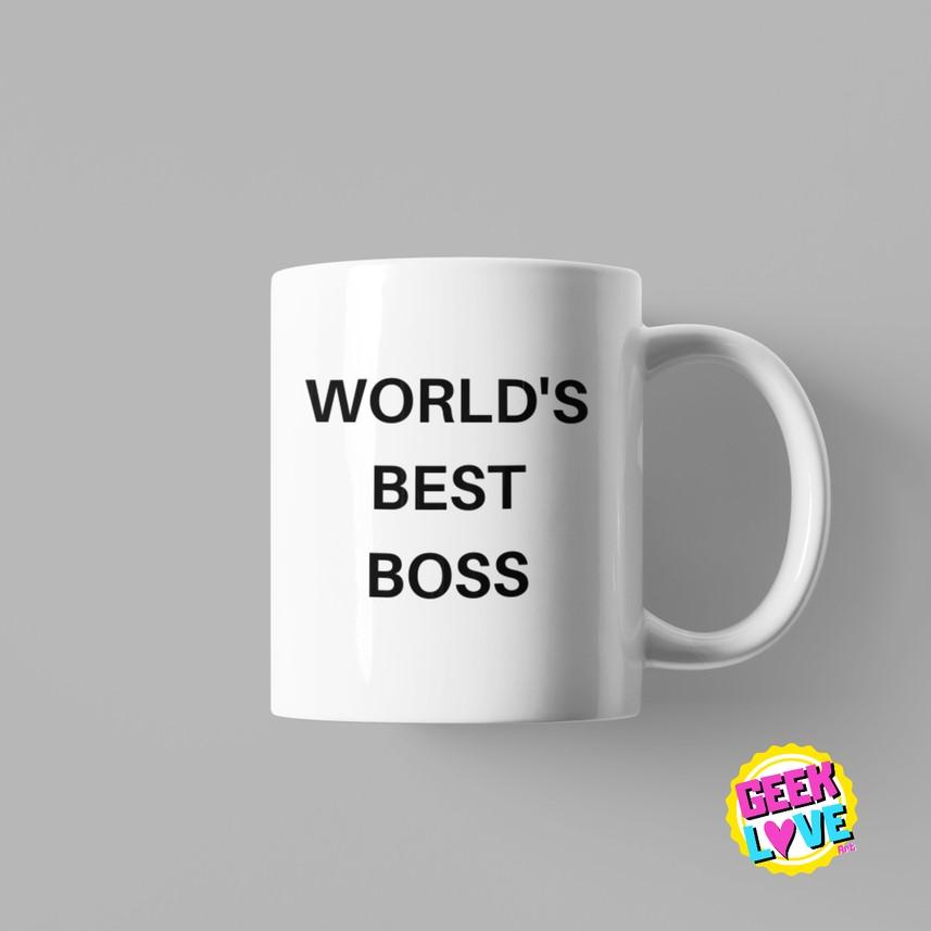 Caneca Geek Love The Office - WORLDs BEST BOSS