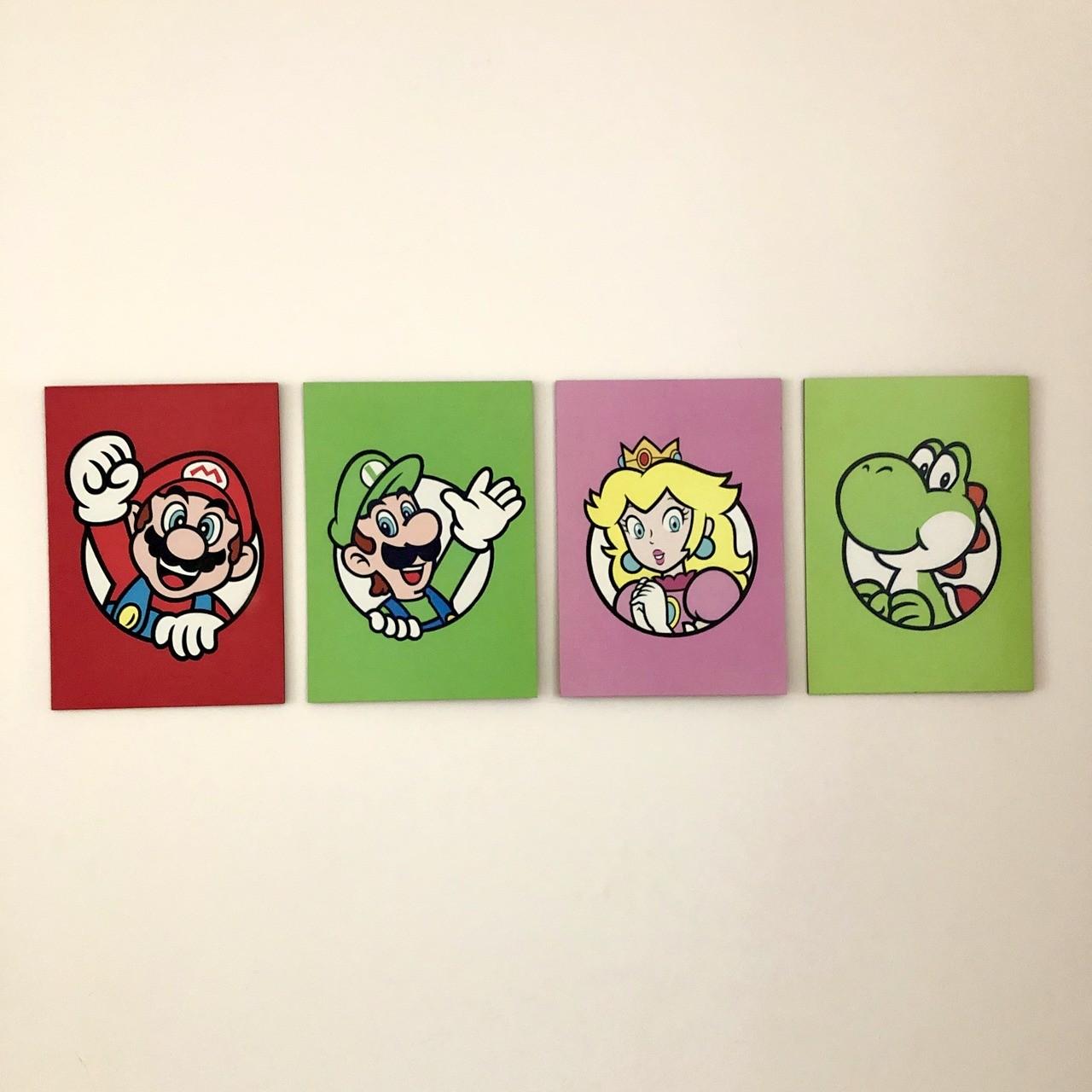 Kit Placas decorativas Super Mario 3D World