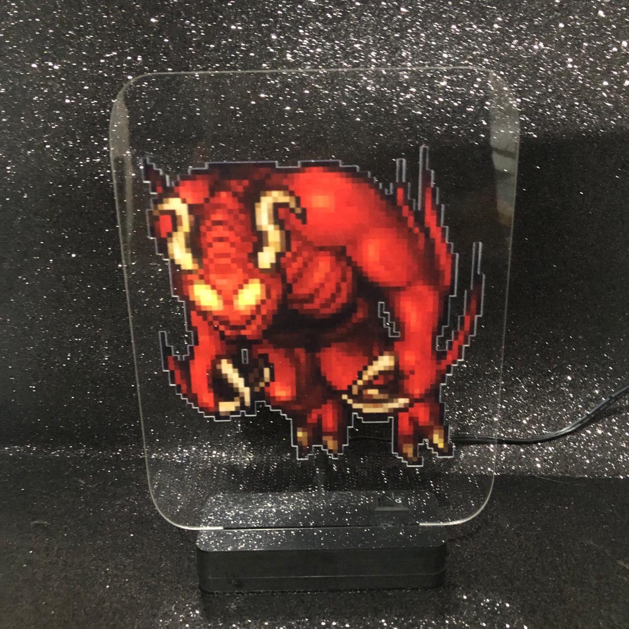 Luminária Demon - Tibia