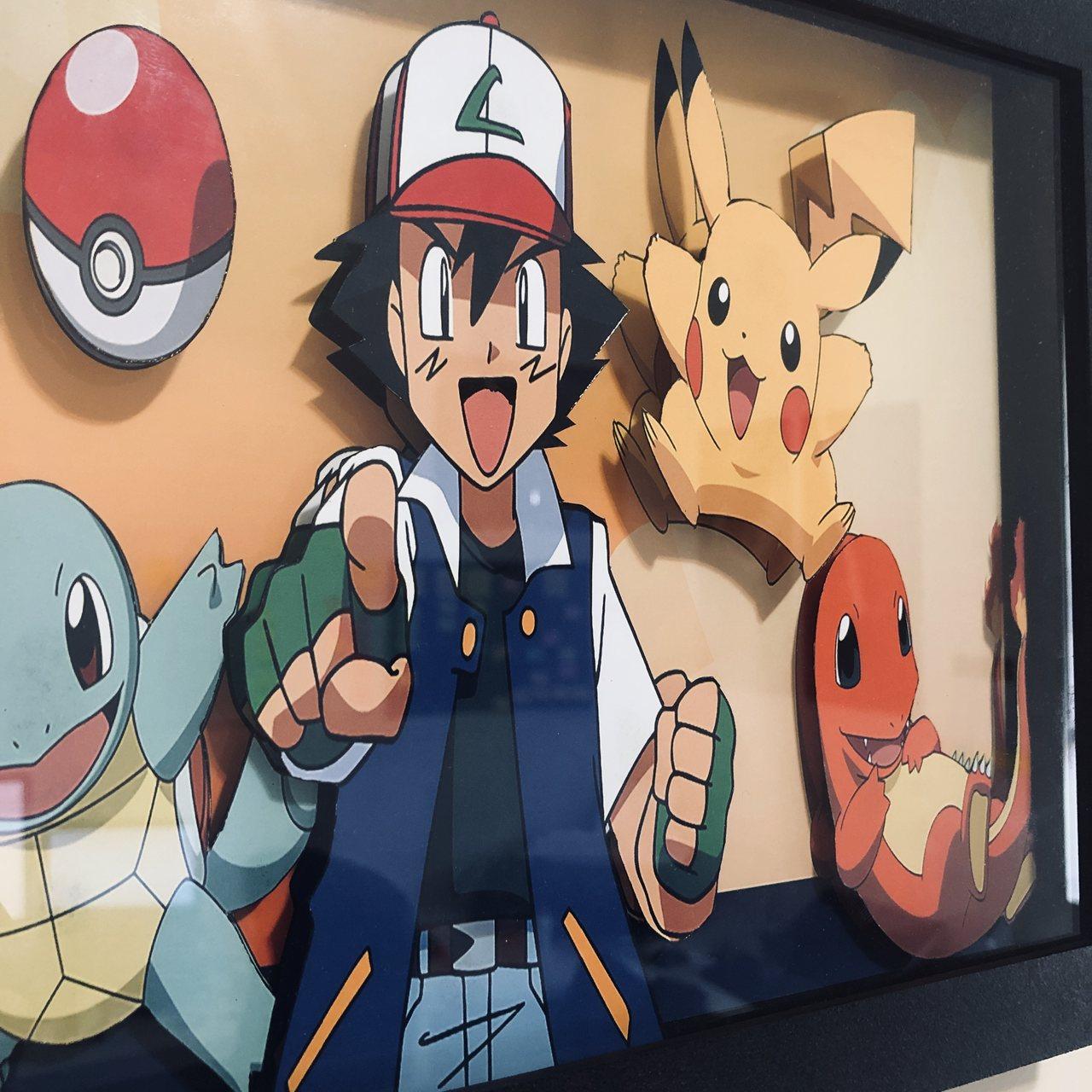 Quadro 3d - Pokemon