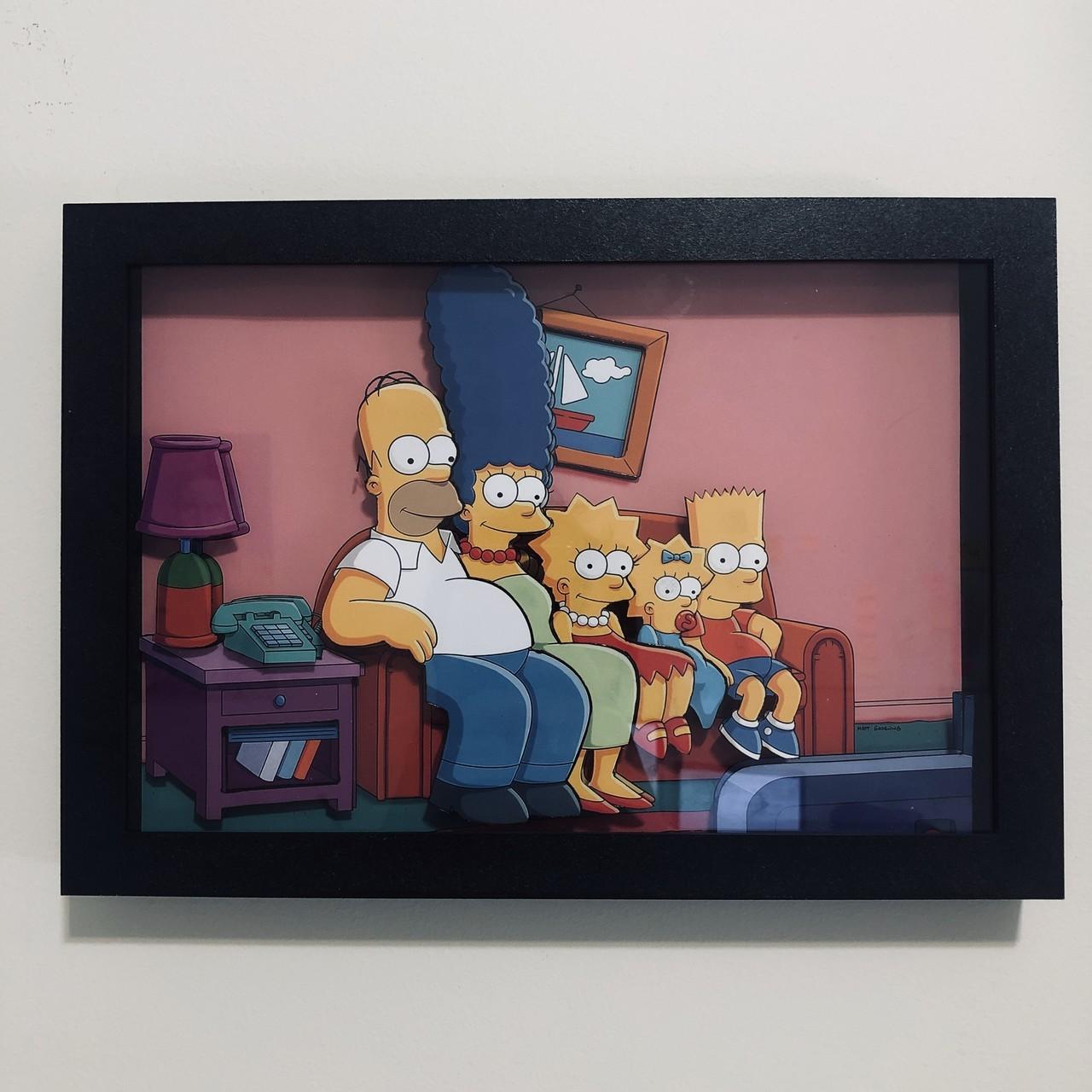 Quadro 3d - Simpsons