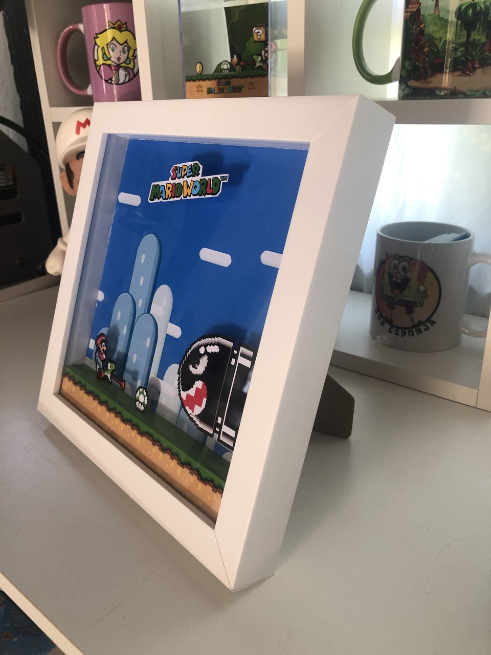 Quadro Diorama - Super Mario World