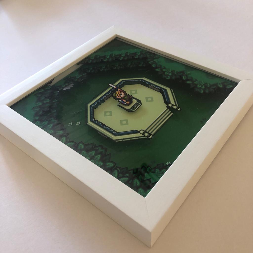 Quadro Diorama - The Legend of Zelda - Master Sword