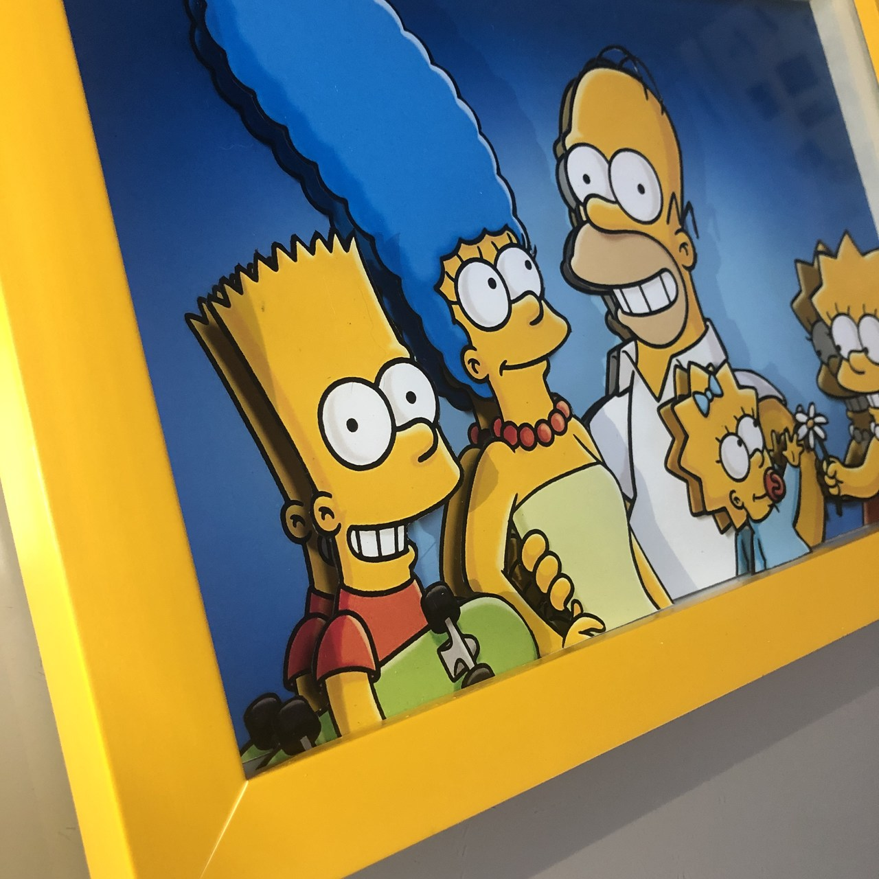 Quadro Geek Love Amarelo 3D - Simpsons