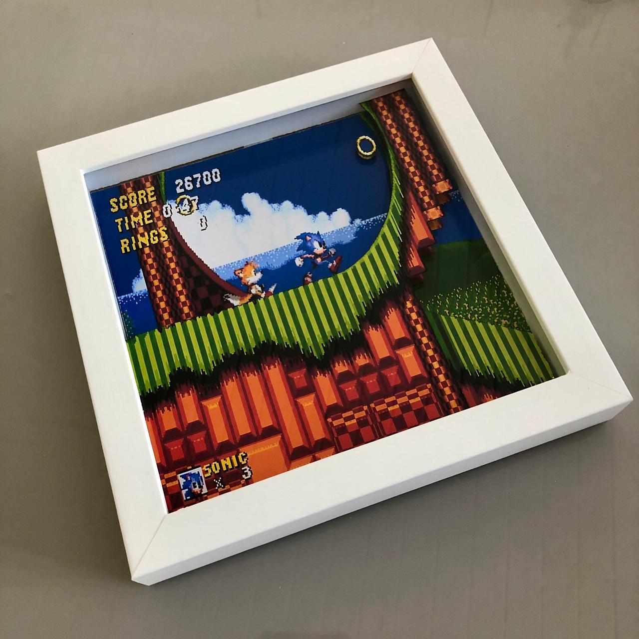 Quadro Sonic - Estilo 3D