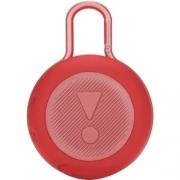 Caixa de som JBL Clip 3 portátil com bluetooth Vermelha