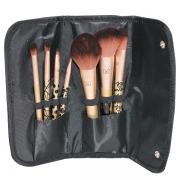 Kit de 7 Pincel de Maquiagem Minnie Dourado BRS-1811