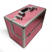Maleta Maquiagem Profissional Vazia Rosa - ML-004