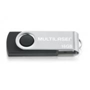 Pendrive Multilaser Twist PD588 16GB 2.0 preto/prateado