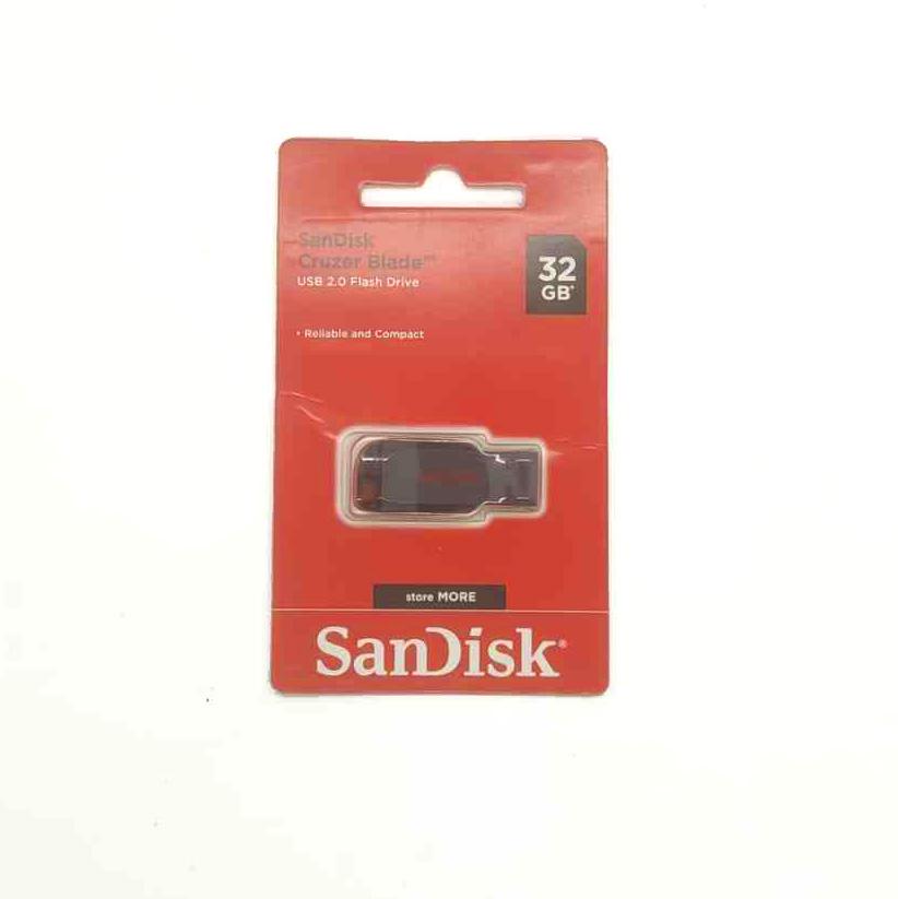 Pendrive SanDisk Cruzer Blade 32GB 2.0 preto/vermelho