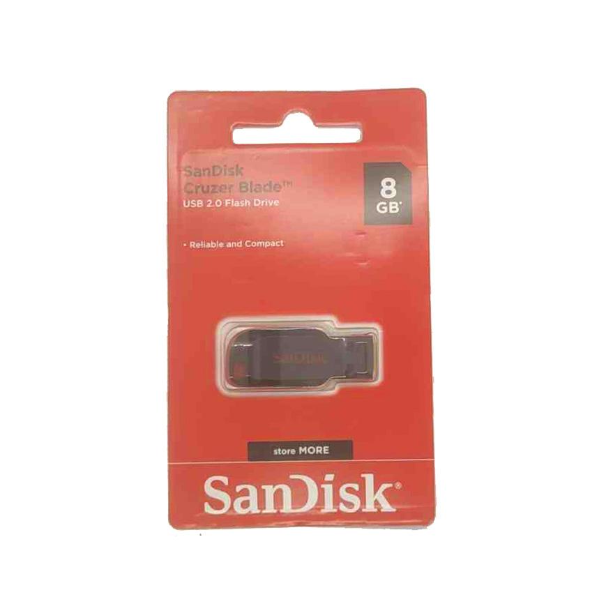 Pendrive SanDisk Cruzer Blade  8GB USB 2.0 preto/vermelho