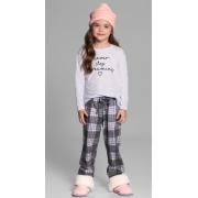 pijama m/l infantil xadrez family