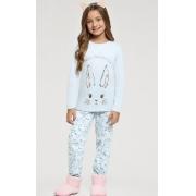 pijama manga longa infantil ozonio coelhos