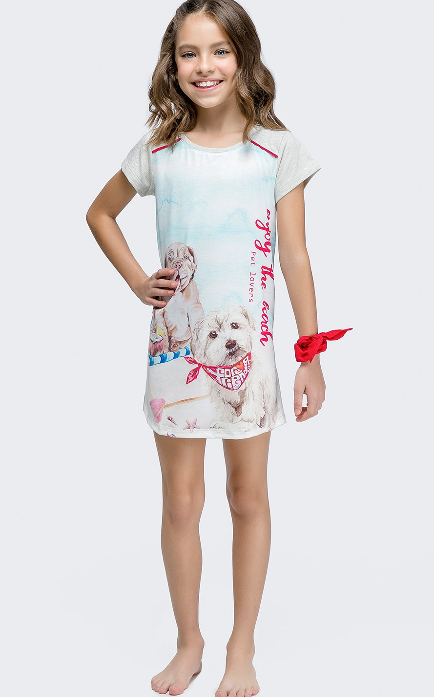 camisola manga curta infantil