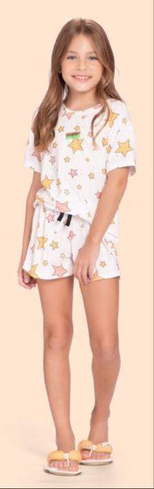 pijama curto infantil into the stars