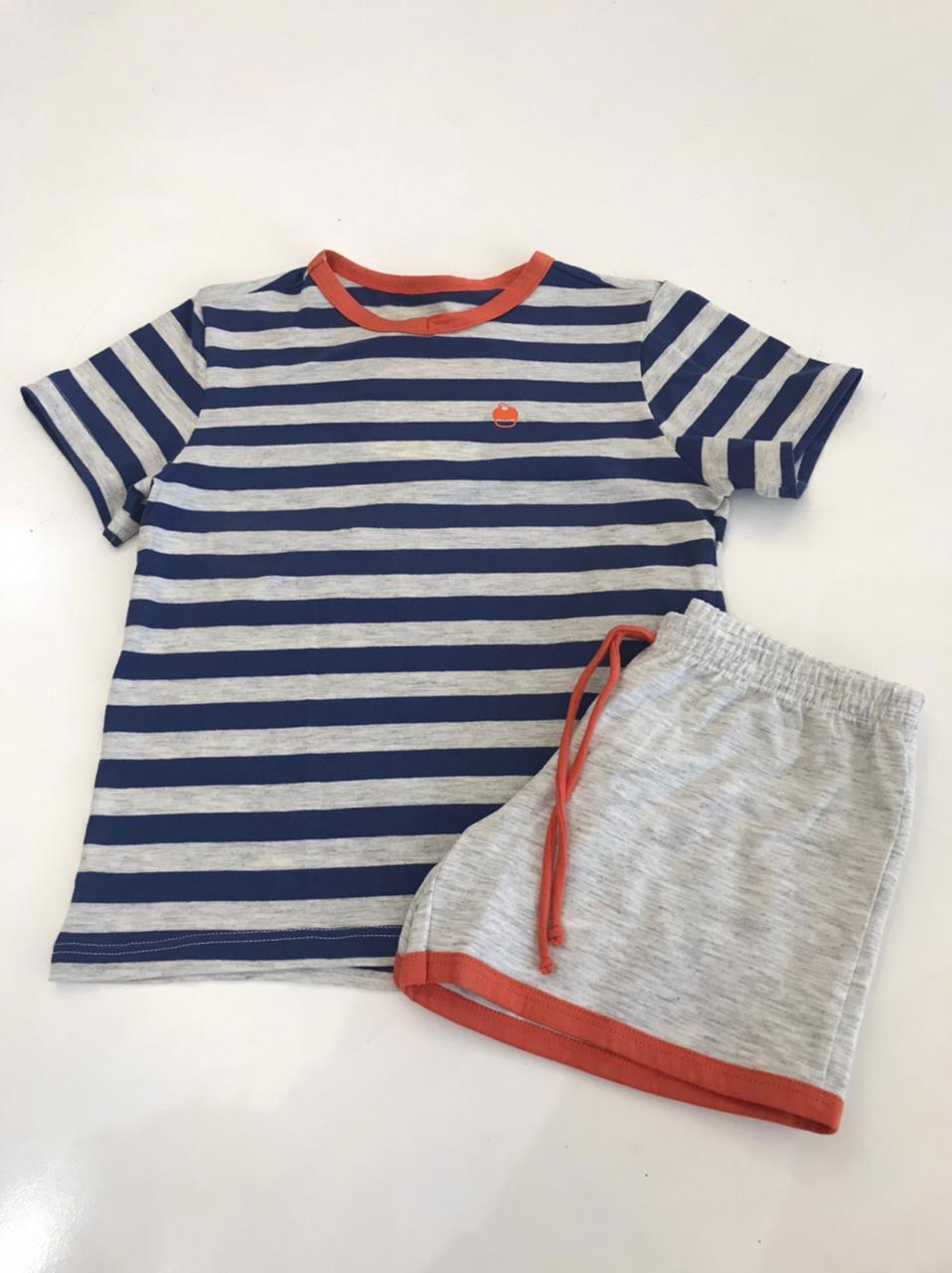 pijama infantil listrado