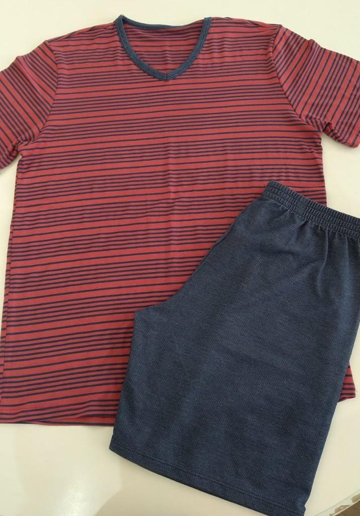 pijama juvenil visco list amaranto