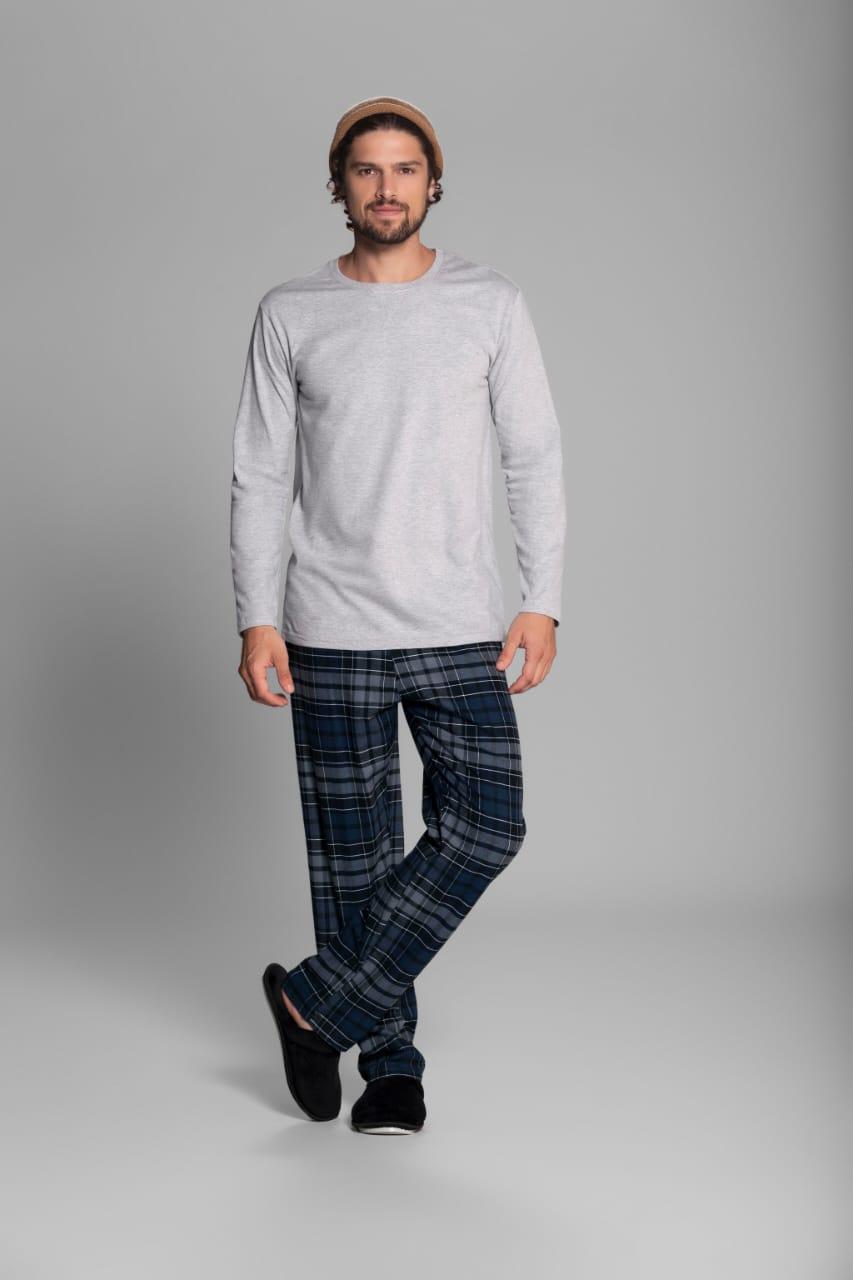 pijama m/l flanelado
