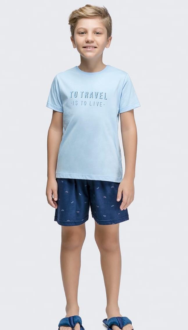 pijama manga curta infantil rot travel